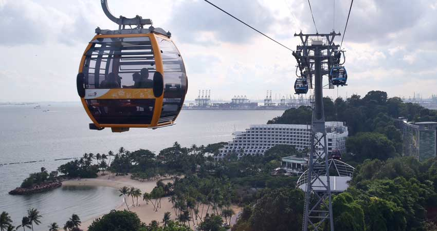 One way Cable Car