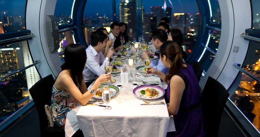 Dinner at Singapore Flyer