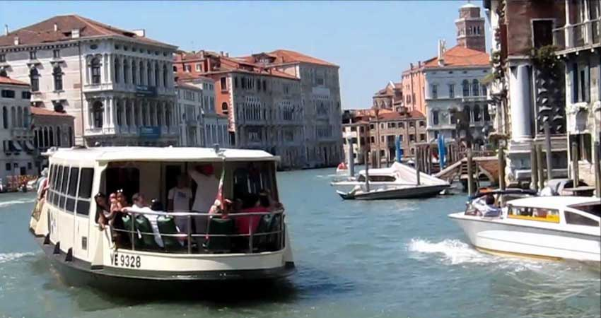 Venice Vaporetto ride.