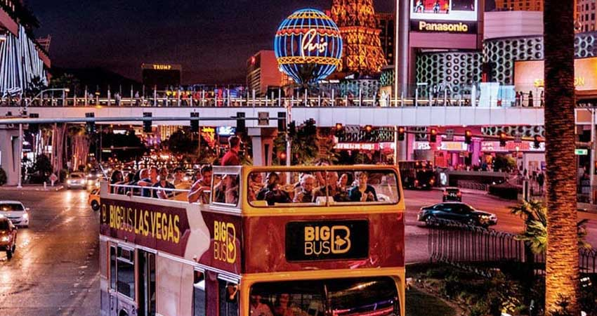Las Vegas Night Tour in Double Decker bus on SIC basis